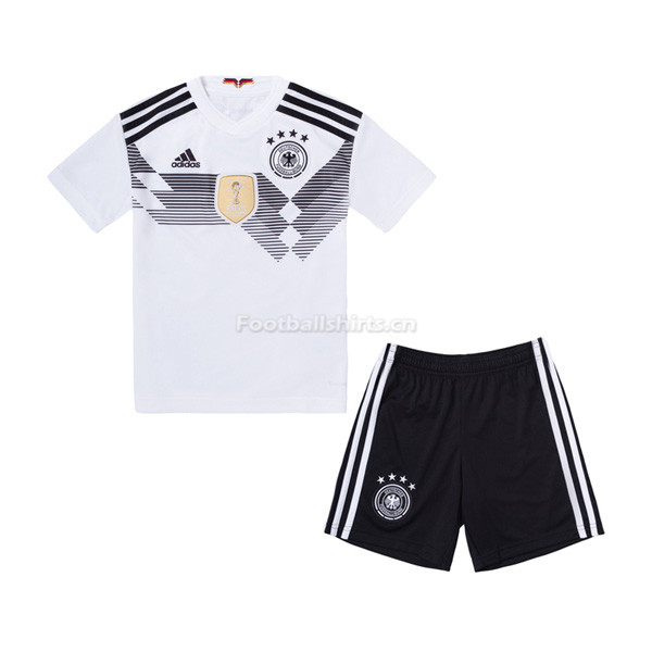 Kids Germany 2018 World Cup Home Soccer Kit Shirt + Shorts