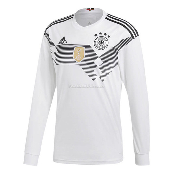 Germany 2018 World Cup Home Long Sleeve Soccer Jersey