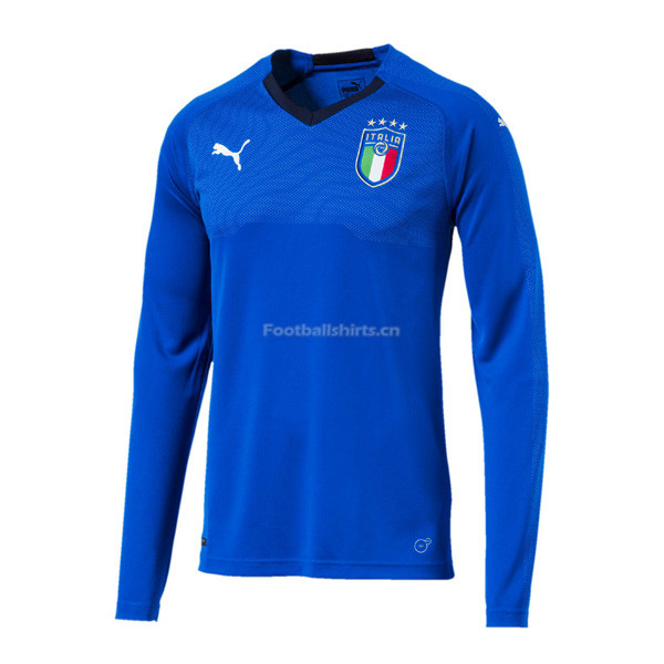 Italy Home Long Sleeve Soccer Jersey 2018/19
