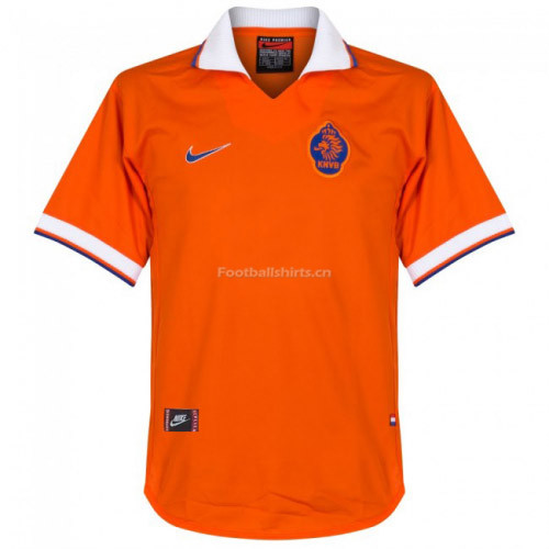 Netherlands 1997/1998 Home Retro Soccer Jersey