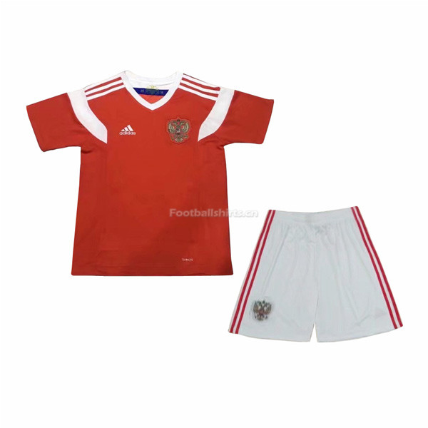 Kids Russia 2018 FIFA World Cup Home Soccer Kit Shirt + Shorts