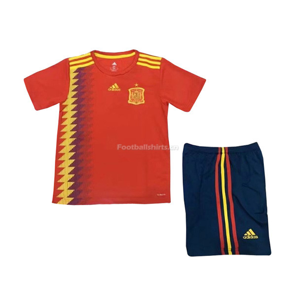 Kids Spain 2018 FIFA World Cup Home Soccer Kit Shirt + Shorts