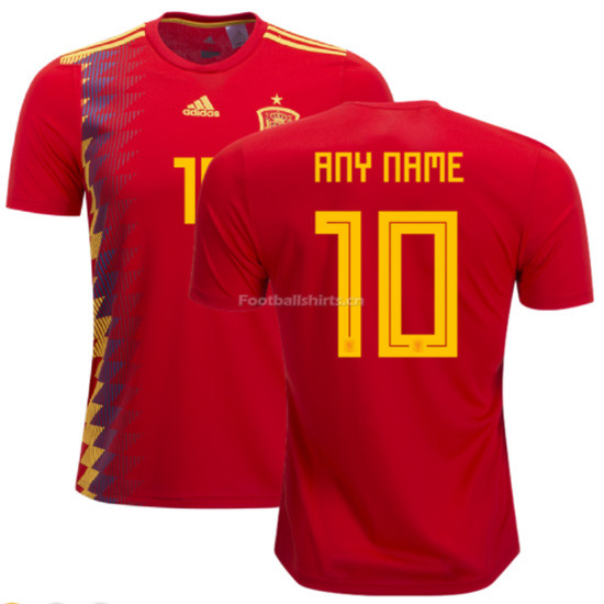 Spain 2018 World Cup Home Soccer Jersey