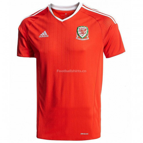 Wales 2016/17 Home Soccer Jersey