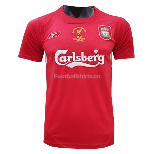 Liverpool 2005 UEFA Champion Home Retro Soccer Jersey