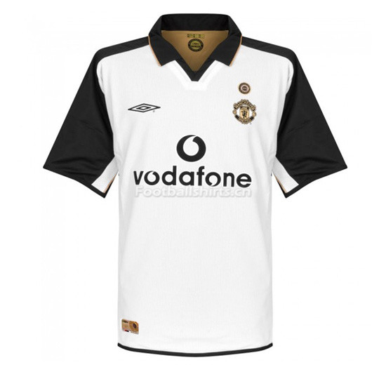 Manchester United 01-02 Away White Centenary Retro Soccer Jersey