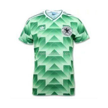 West Germany 1988-1990 Away Green Retro Soccer Jersey