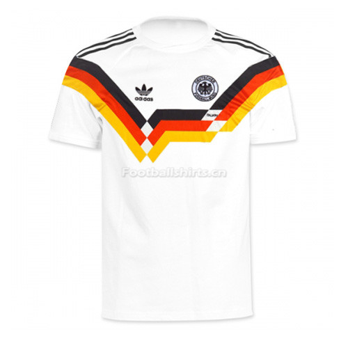 West Germany 1990 Home Retro Soccer Jersey
