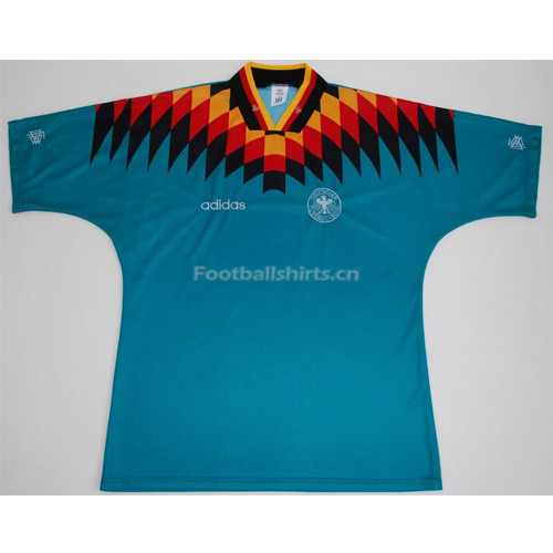 West Germany 1994 Away Green Retro Soccer Jersey