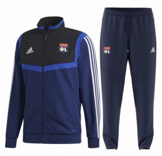 Olympique Lyonnais Training Jacket Suits Black Blue 2019/20