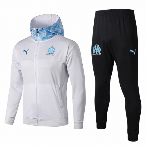 Olympique Marseille Training Hoodie Jacket Suits White 2019/20