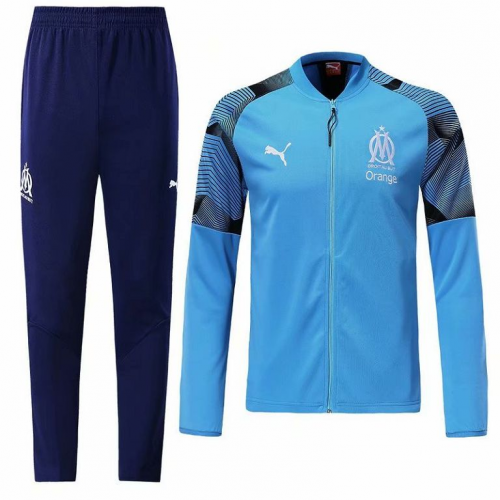 Olympique Marseille Training Jacket Suits Blue 2018/19