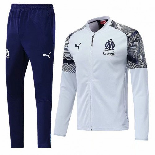 Olympique Marseille Training Jacket Suits Grey 2019/20