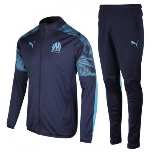Olympique Marseille Training Jacket Suits Blue 2019/20