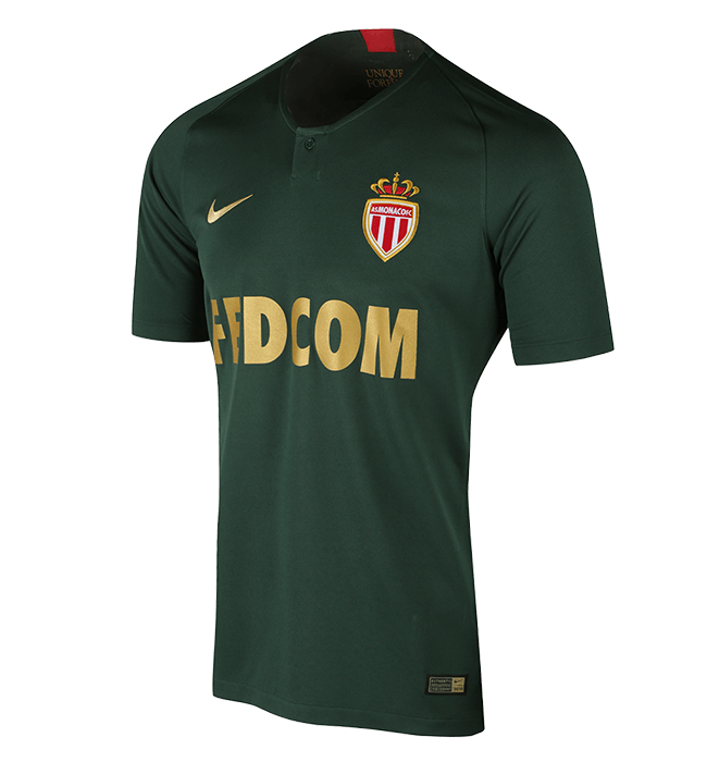AS Monaco Away Green Soccer Jersey 2018/19
