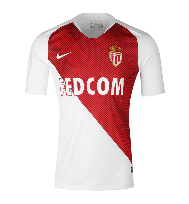 AS Monaco Home Soccer Jersey 2018/19