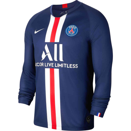 PSG Home Soccer Jersey Long Sleeve 2019/20