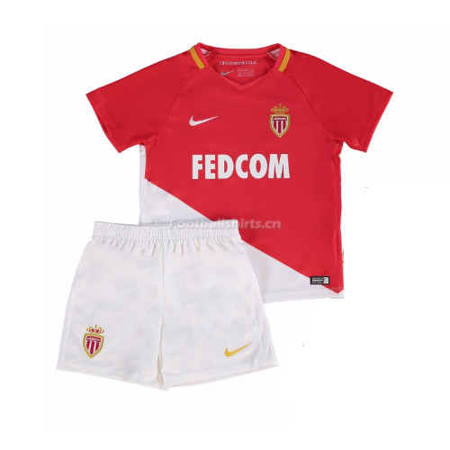 Kids AS Monaco Home Kit Shirt + Shorts 2017/18