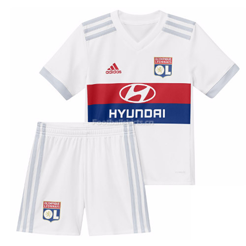 Kids Olympique Lyonnais Home Kit Shirt + Shorts 2017/18