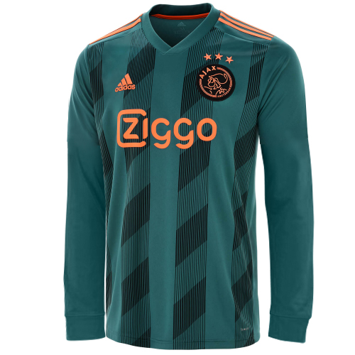 Ajax Away Soccer Jersey Long Sleeve 2019/20