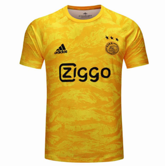 Ajax Goalkeeper Soccer Jersey Yellow 2019/20