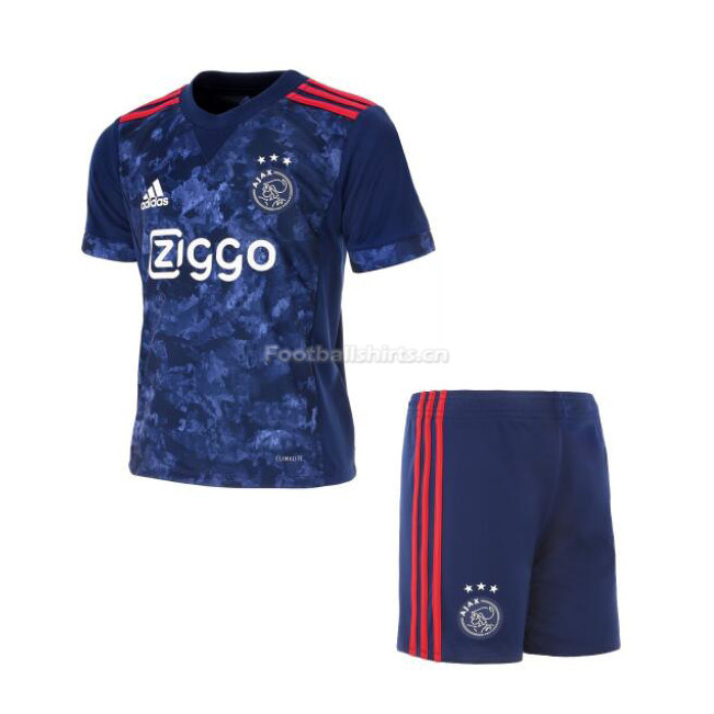 Kids Ajax Away Soccer Kit Shirt + Shorts 2017/18