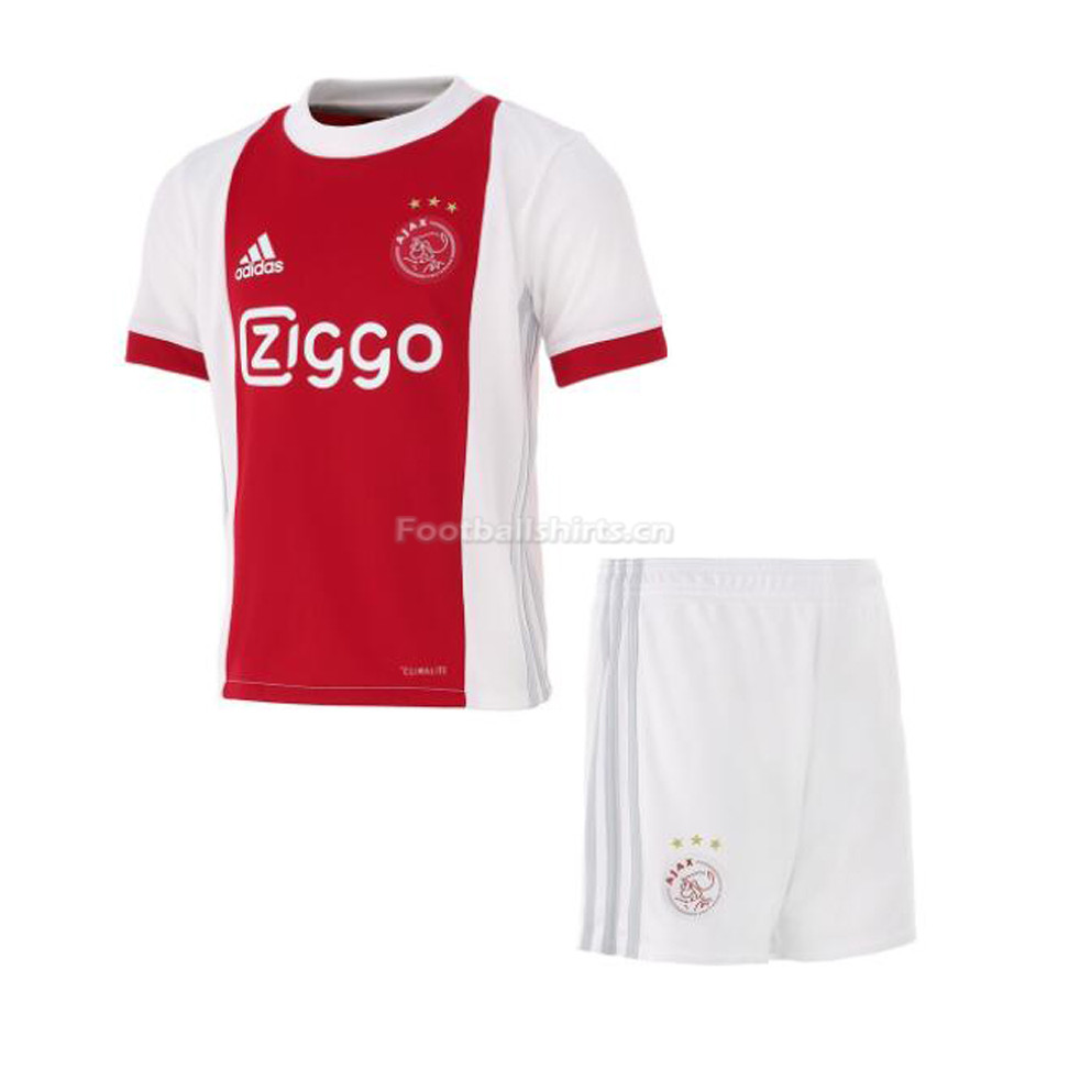 Kids Ajax Home Soccer Kit Shirt + Shorts 2017/18