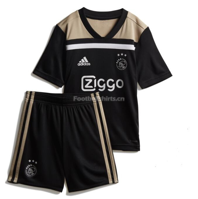Kids Ajax Away Soccer Jersey Kit Shirt + Shorts 2018/19
