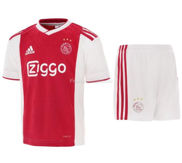 Kids Ajax Home Soccer Jersey Kit Shirt + Shorts 2018/19