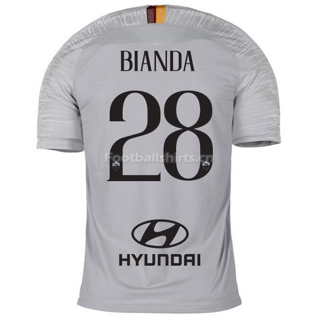 AS Roma BIANDA 28 Away Soccer Jersey 2018/19