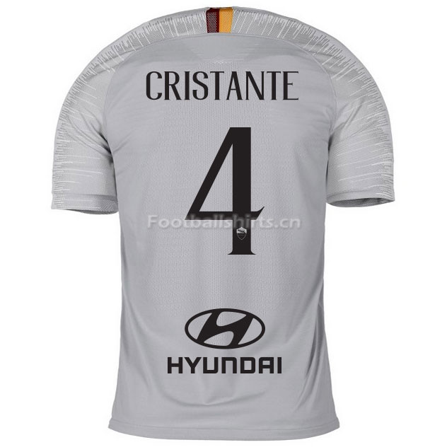 AS Roma CRISTANTE 4 Away Soccer Jersey 2018/19