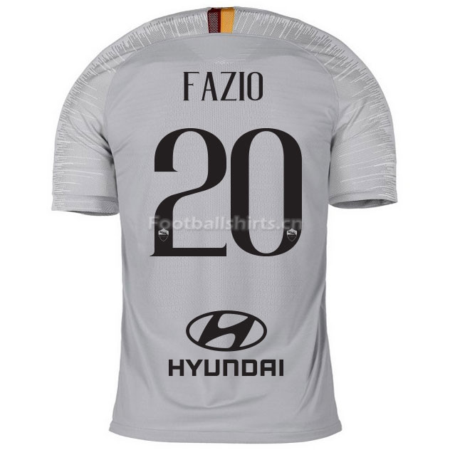 AS Roma FAZIO 20 Away Soccer Jersey 2018/19