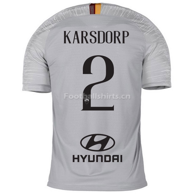 AS Roma KARSDORP 2 Away Soccer Jersey 2018/19