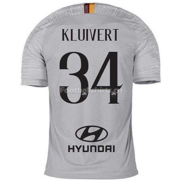 AS Roma KLUIVERT 34 Away Soccer Jersey 2018/19