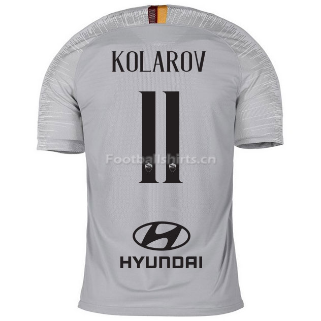 AS Roma KOLAROV 11 Away Soccer Jersey 2018/19