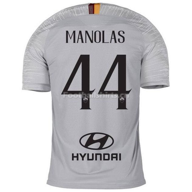 AS Roma MANOLAS 44 Away Soccer Jersey 2018/19