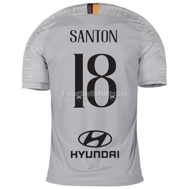 AS Roma SANTON 18 Away Soccer Jersey 2018/19
