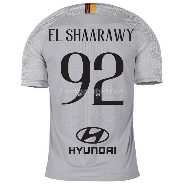 AS Roma EL SHAARAWY 92 Away Soccer Jersey 2018/19