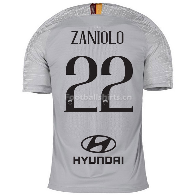 AS Roma ZANIOLO 22 Away Soccer Jersey 2018/19