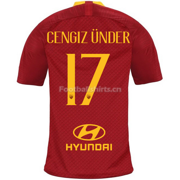 AS Roma CENGIZ UNDER 17 Home Soccer Jersey 2018/19