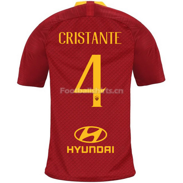 AS Roma CRISTANTE 4 Home Soccer Jersey 2018/19