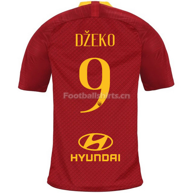 AS Roma DZEKO 9 Home Soccer Jersey 2018/19