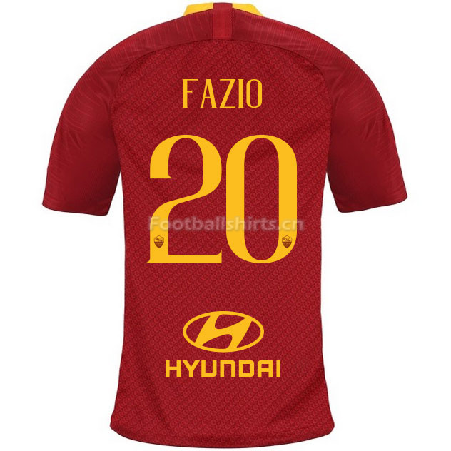 AS Roma FAZIO 20 Home Soccer Jersey 2018/19