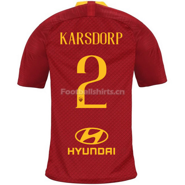 AS Roma KARSDORP 2 Home Soccer Jersey 2018/19