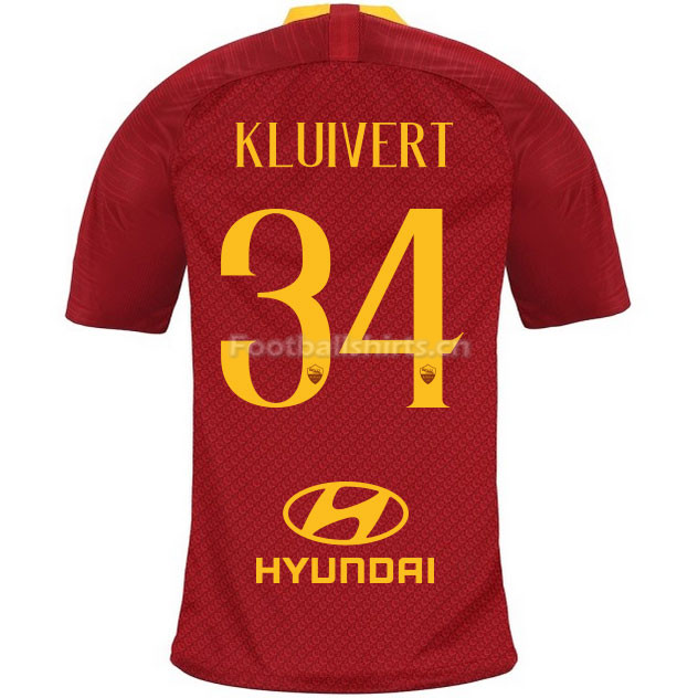 AS Roma KLUIVERT 34 Home Soccer Jersey 2018/19