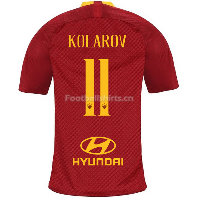 AS Roma KOLAROV 11 Home Soccer Jersey 2018/19