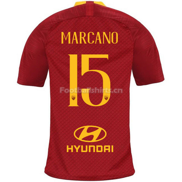 AS Roma MARCANO 15 Home Soccer Jersey 2018/19