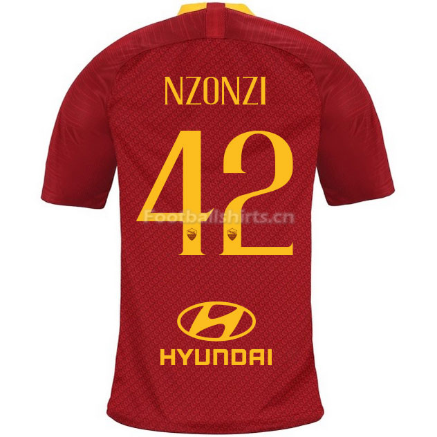 AS Roma NZONZI 42 Home Soccer Jersey 2018/19