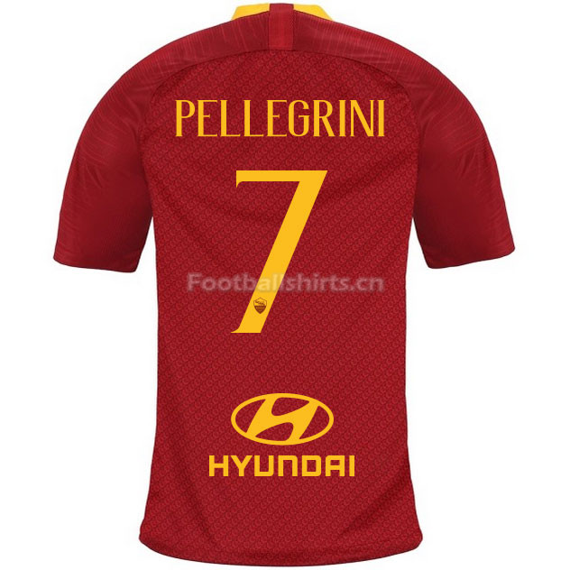 AS Roma PELLEGRINI 7 Home Soccer Jersey 2018/19