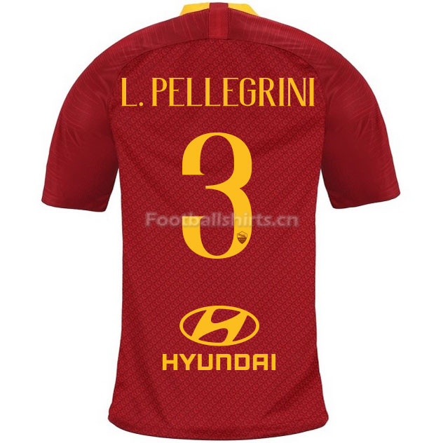 AS Roma L.PELLEGRINI 3 Home Soccer Jersey 2018/19